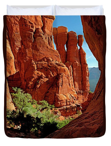 Cathedral Rock 06-124 Duvet Cover by Scott McAllister
