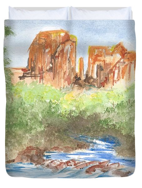 Cathedral Rock 2,  Sedona, Az. Duvet Cover