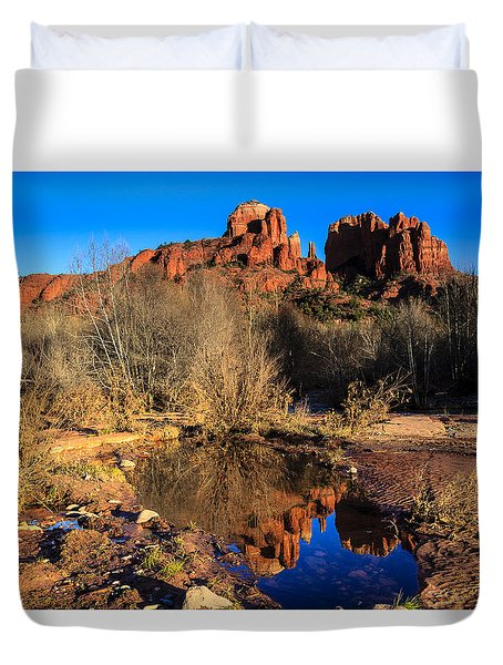 Cathedral Rock Arizona Duvet Cover