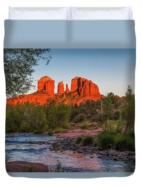 Cathedral Rock At Red Rock Crossing Duvet Cover