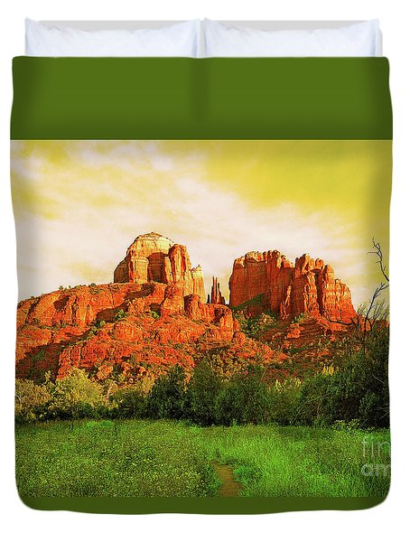 Cathedral Rock Az Duvet Cover