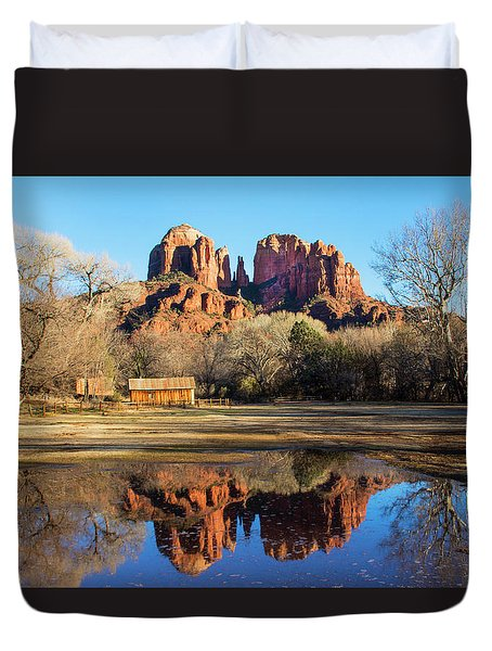 Cathedral Rock, Sedona Duvet Cover by Barbara Manis