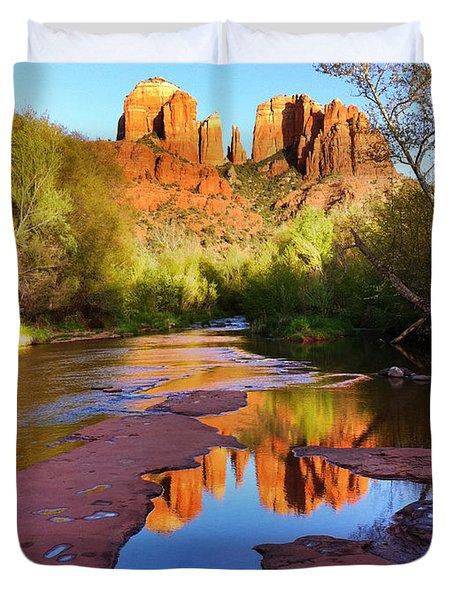 Cathedral Rock Sedona Duvet Cover by Matt Suess