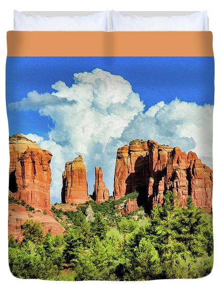 Cathedral Sed M 04-115 Duvet Cover by Scott McAllister