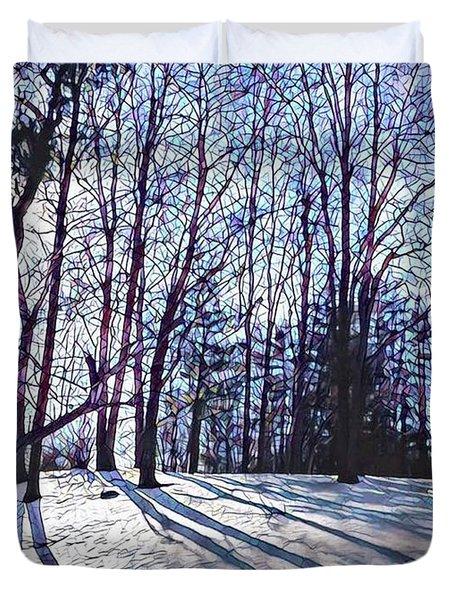 Cathedral Skies Duvet Cover by Margaret Lindsay Holton