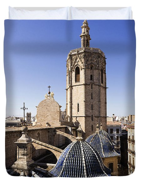Cathedral Valencia Micalet Tower Duvet Cover