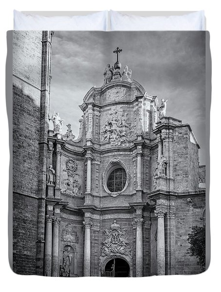 Duvet Cover featuring the photograph Cathedral Valencia Spain by Joan Carroll