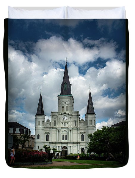 Cathedral With Clouds Duvet Cover