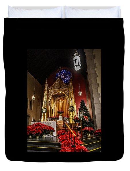 Catholic Christmas Duvet Cover