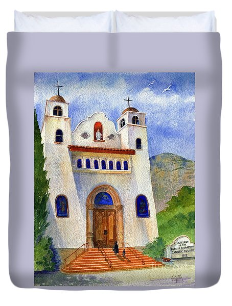 Catholic Church Miami Arizona Duvet Cover