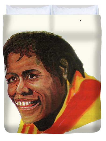 Cathy Freeman Duvet Cover by Emmanuel Baliyanga