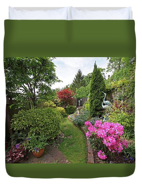 Cathy's Garden - A Little Slice Of England Duvet Cover by Gill Billington
