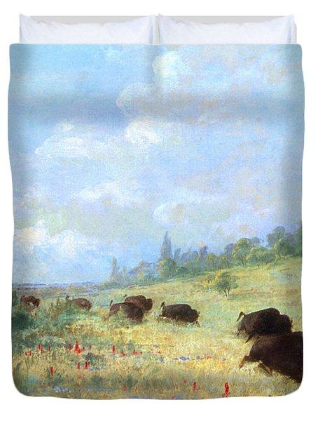 Catlin: Elk & Buffalo Duvet Cover by Granger