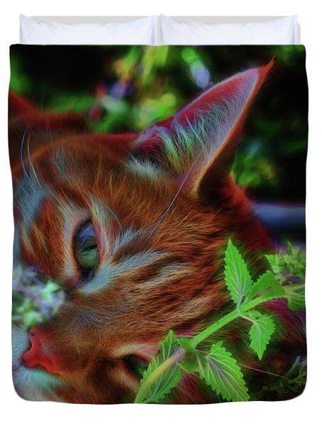Catnip Chillin Duvet Cover