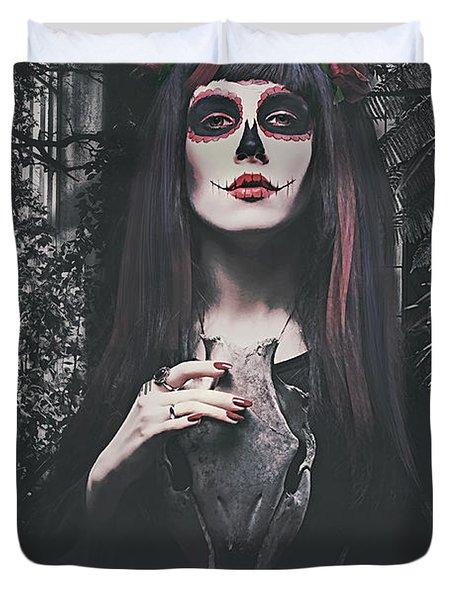 Catrina Day Of The Dead Duvet Cover