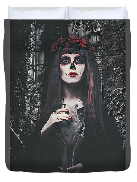Catrina Day Of The Dead Duvet Cover