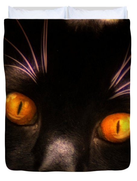 Cats Eyes Duvet Cover by Bill Cannon