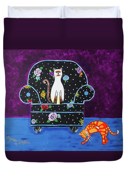 Cats Just Wanna Have Fun Duvet Cover