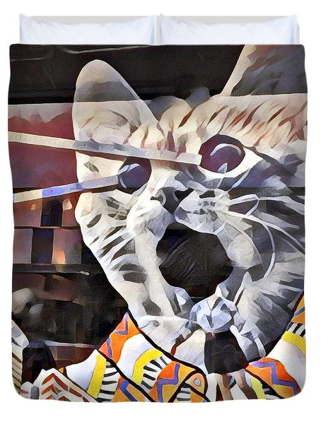 Cats On Congress Duvet Cover