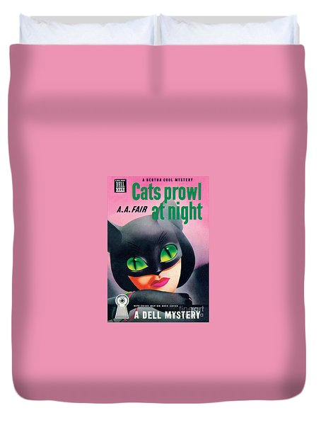 Cats Prowl At Night Duvet Cover