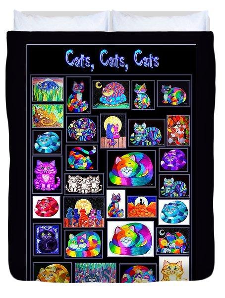 Catscatscats Duvet Cover
