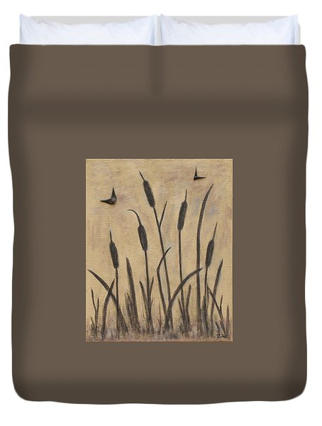 Cattails 2 Duvet Cover