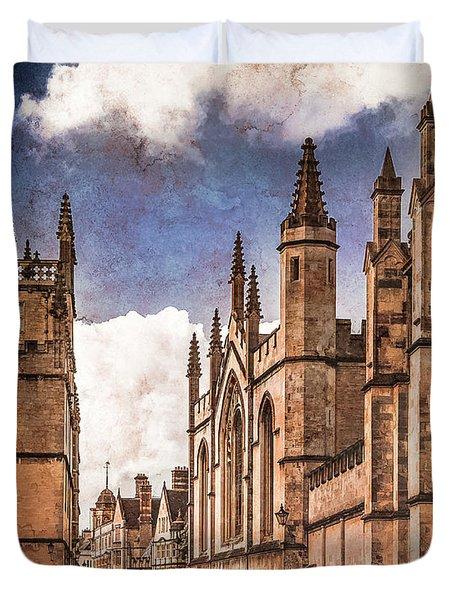 Oxford, England - Catte Street Duvet Cover