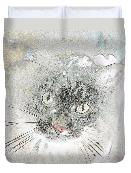 Cattitude Duvet Cover