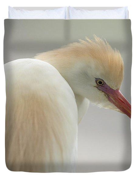 Cattle Egret Profile Duvet Cover
