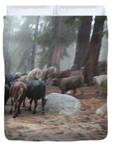 Cattle Moving Duvet Cover