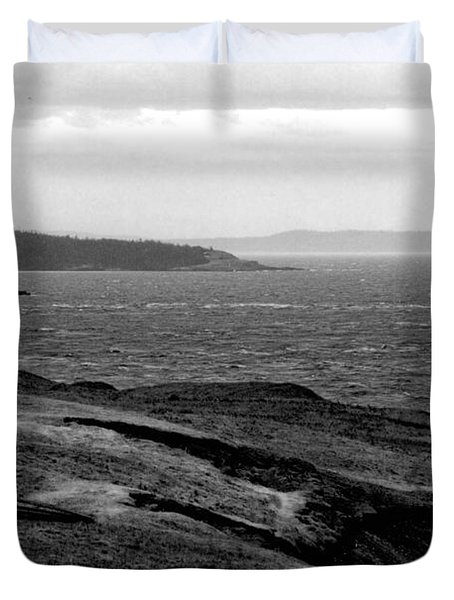 Cattle Point Lighthouse Duvet Cover