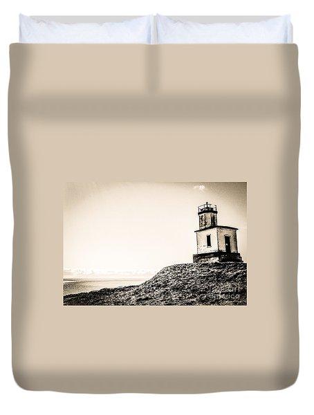 Cattle Point Lighthouse Duvet Cover