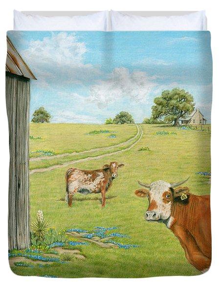Cattle Ranch Duvet Cover