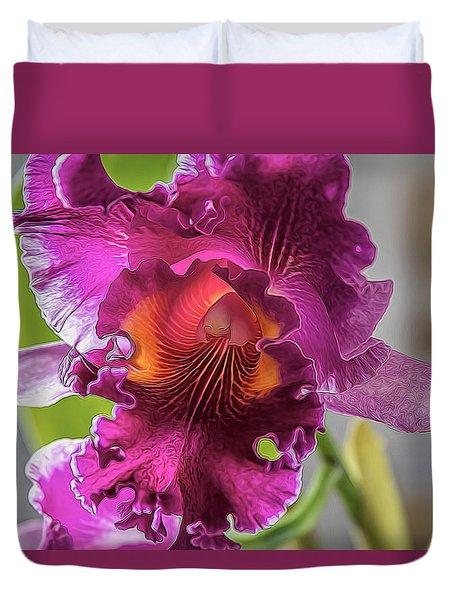 Cattleya Duvet Cover by Alana Thrower