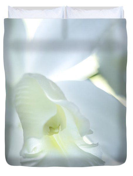 Cattleya Orchid #1 Duvet Cover by George Robinson