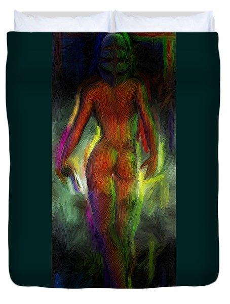 Catwalk Into The Light Duvet Cover