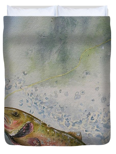 Caught Duvet Cover by Gale Cochran-Smith