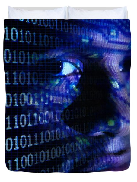 Duvet Cover featuring the digital art Caught In The Net by Gun Legler