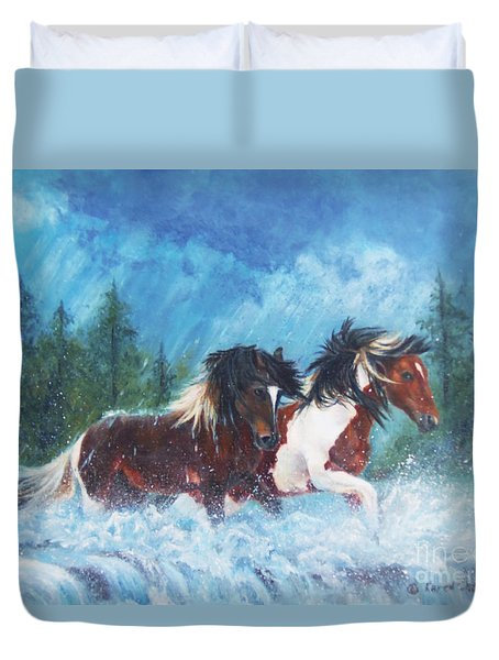 Caught In The Rain  Duvet Cover