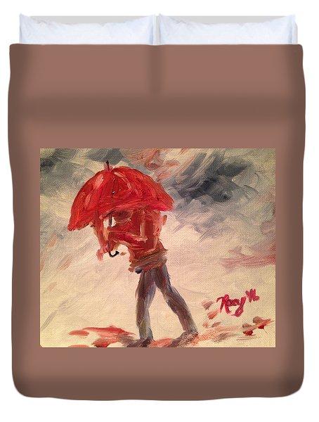 Caught In The Rain Duvet Cover