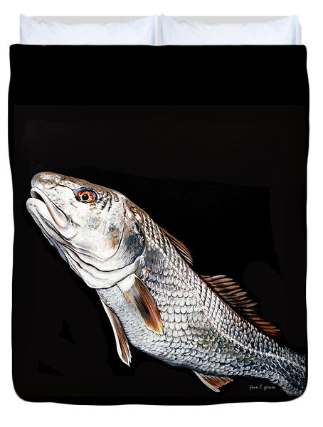 Caught In The Surf Redfish Duvet Cover