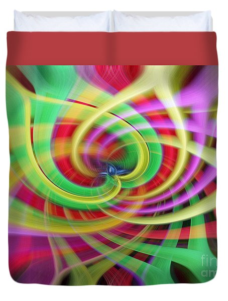 Caught Up In A Colorful Swirl Duvet Cover