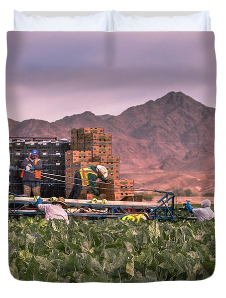 Cauliflower Harvest Duvet Cover