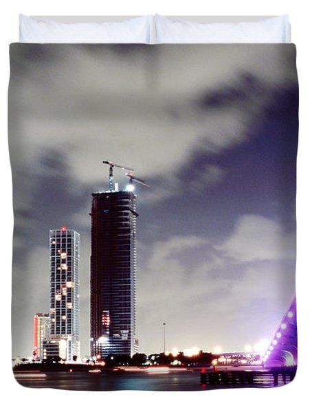 Causeway Bridge Skyline Duvet Cover