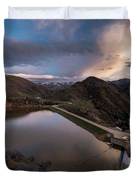Causey Spring Sunset Duvet Cover by Justin Johnson