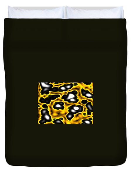 Caution Duvet Cover by Jeff Iverson