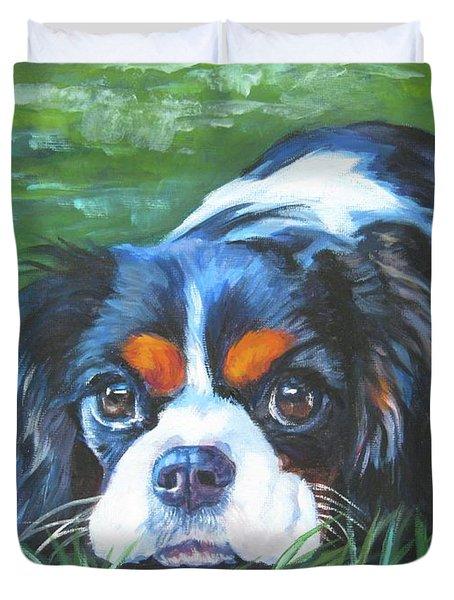 Cavalier King Charles Spaniel Tricolor Duvet Cover