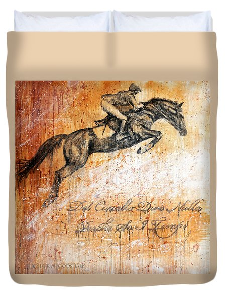 Cavallo Contemporary Horse Art Duvet Cover