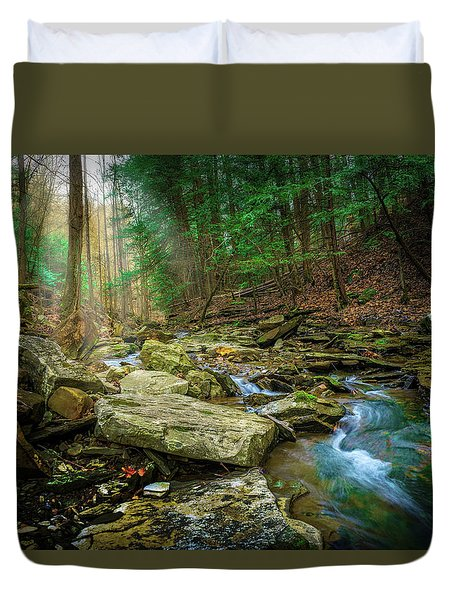 Cave Branch #9 Duvet Cover