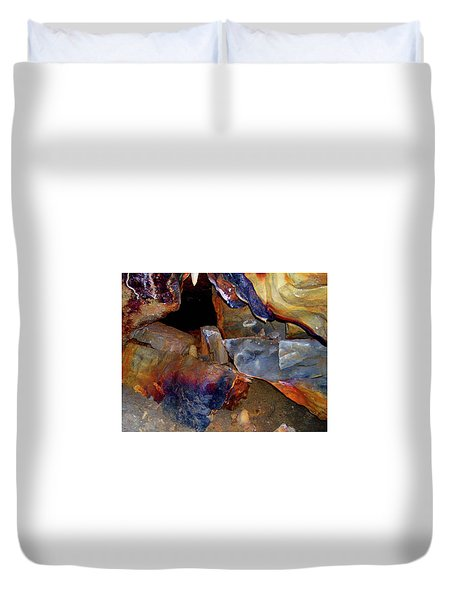 Cave Gems Duvet Cover by Melinda Dare Benfield